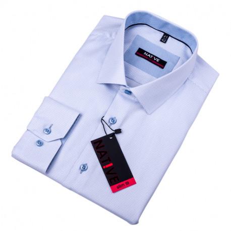 Modrá pánská košile vypasovaný střih Native 120012