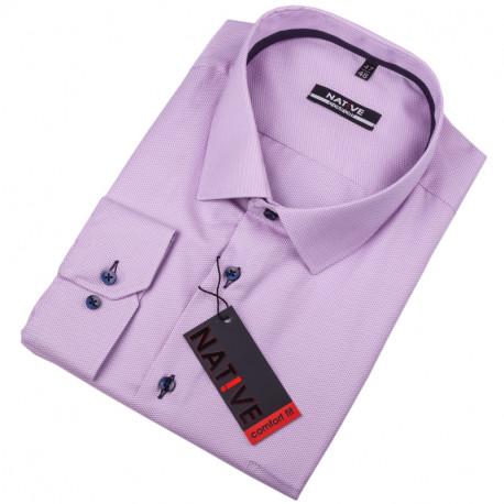 Nadměrná pánská košile fialová Native 120513