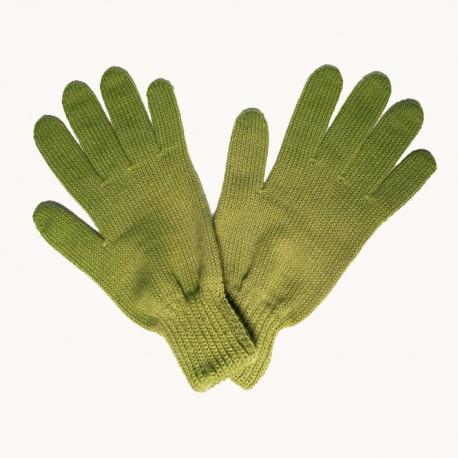 Zelená pletené rukavice Assante 89741