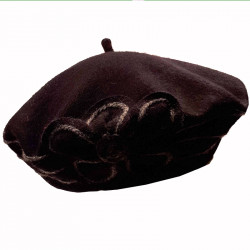 Černý baret dámský elegantní Tonak 87217
