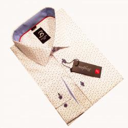 Pánská košile dlouhý rukáv podšitý límc Brighton 110003