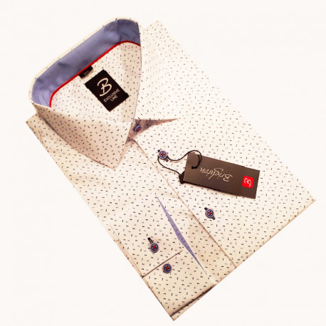 pánská košile dlouhý rukáv s podšitým límcem Brighton 110003