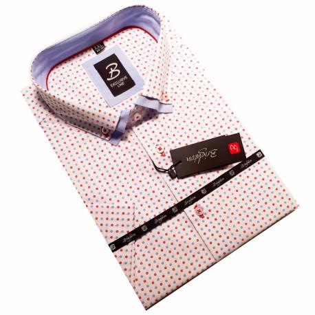 3504bf5c82a8 Bílá pánská košile krátký rukáv rovný střih Brighton 110054