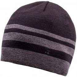 Šedočerná pletená pánská čepice Assante 86005