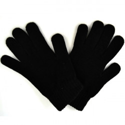 Černé pletené pánské rukavice Assante 89701