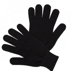 Černé pletené silné pánské rukavice Assante 89702