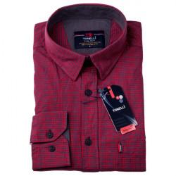 Červenomodrá košile 100 % bavlna Tonelli 110956