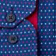 Modročervenobílá košile 100 % bavlna Tonelli 110960