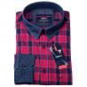 Červenomodrá košile 100 % bavlna Tonelli 110962