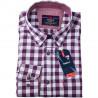 Vínovomodrá kostka košile Tonelli 110959