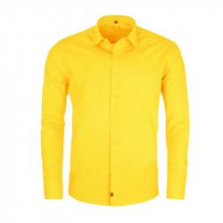 Nadměrná pánská košile rovná žlutá Friends and Rebels 31036