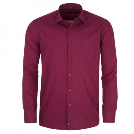 Červená pánská košile s dlouhým rukávem rovná Friends and Rebels 30306 dc45571261