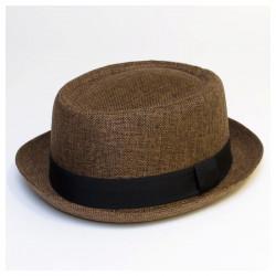 Letní lehký klobouk Giftfree hnědý 161050