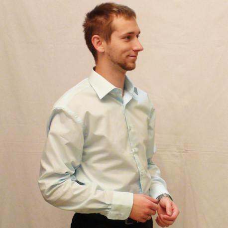 Modrá pánská košile s dlouhým rukávem slim fit Friends and Rebels 30410