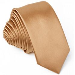 Slim fit hnědá kravata Arturo Gottini 99122