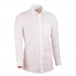 Prodloužená košile slim fit šampaň Assante 20208