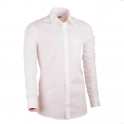 Prodloužená pánská košile slim fit šampaň Assante 20208