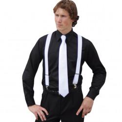 Prodloužená pánská košile černá regular fit Friends and Rebels 20102
