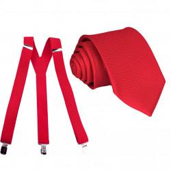 Set kšandy kravata červený Assante 507