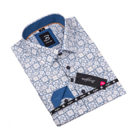 Vzorovaná košile Brighton bílomodrá 109917