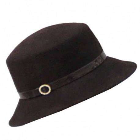 e11ec8deac2 Hnědý elegantní dámský klobouk Anytra 87048