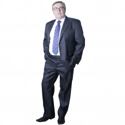 Nadměrný pánský oblek šedý na výšku 176 - 182 cm Galant 160633