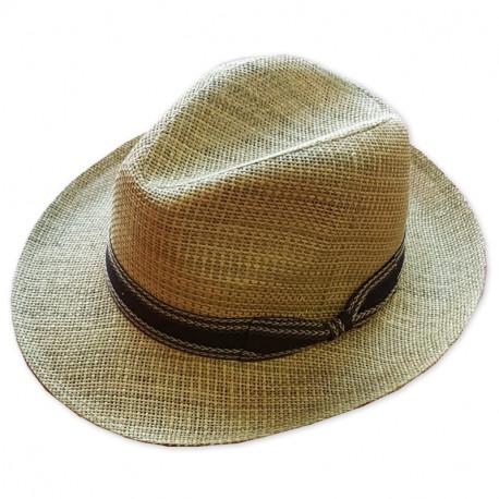 815516a36 Slaměný klobouk béžový Assante 80006