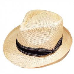 Slaměný klobouk béžový Assante 80007