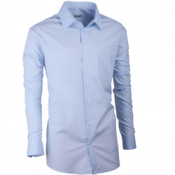 Modrá pánská košile dlouhý rukáv slim fit Aramgad 30480
