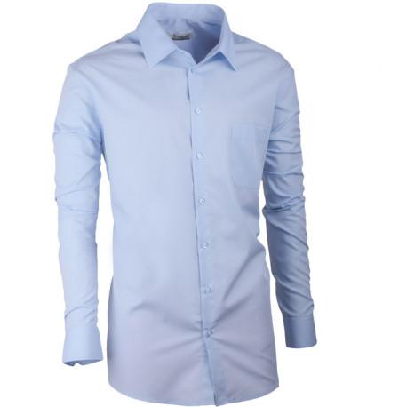5d26ec65818 Modrá pánská košile s dlouhým rukávem slim fit Aramgad 30480