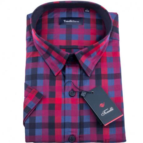 Červenomodrá kostičkovaná košile Tonelli 110830