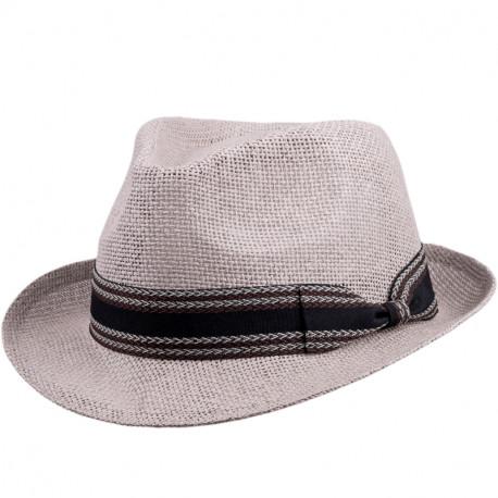 Slaměný klobouk šedý Assante 80009