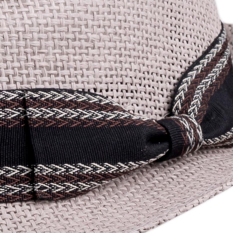 673e4bc1f Slaměný klobouk šedý Assante 80009
