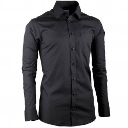 Černá pánská košile s dlouhým rukávem Aramgad 30181