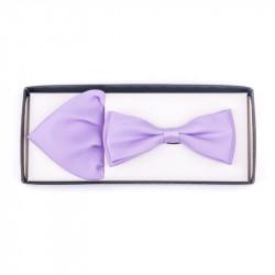 Pánský motýlek barva světle fialová Assante 90228
