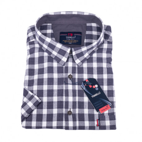 Košile s šedobílou kostkou Tonelli 110859