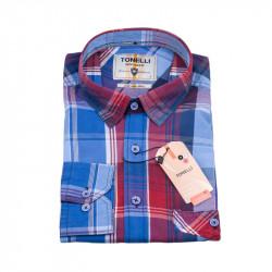 Modrá bílá kostkovaná košile Tonelli 110980