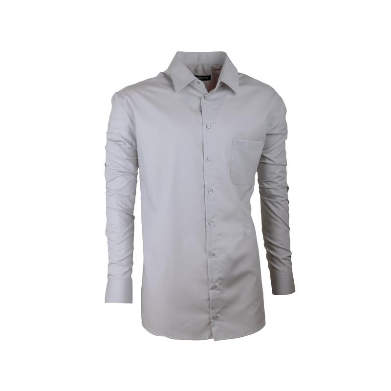 831d8b7de03 Pánská košile Assante slim fit šedá 30171