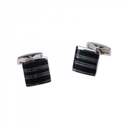 Manžetové knoflíčky stříbrné barvy Assante 90513