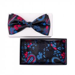 Pánský motýlek barva modrá-černá Assante 90321