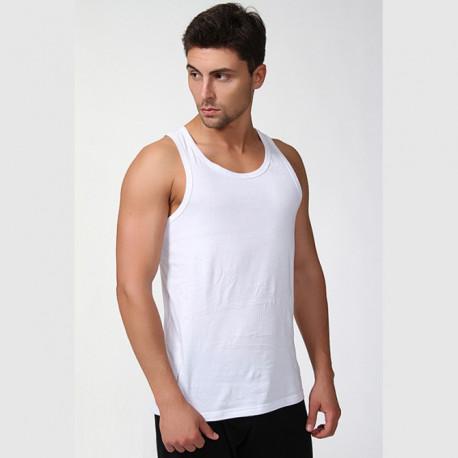 Nadměrný bílý pánský nátělník Vasil Assante 50002