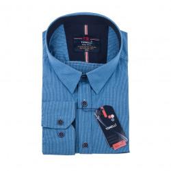 Modrá kostičkovaná nadměrná košile Tonelli 110985