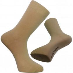 Béžové ponožky se stříbrem antibakteriální pánské Assante 71112