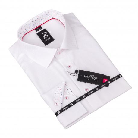 Košile Brighton bílá s plastickým vzorem 110099