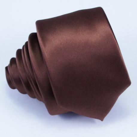 Hnědá slim kravata Arturo Gottini 99116