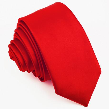 Červená slim kravata Greg 99135