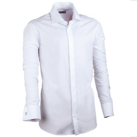 Bílá pánská košile vypasovaná Assante 30025