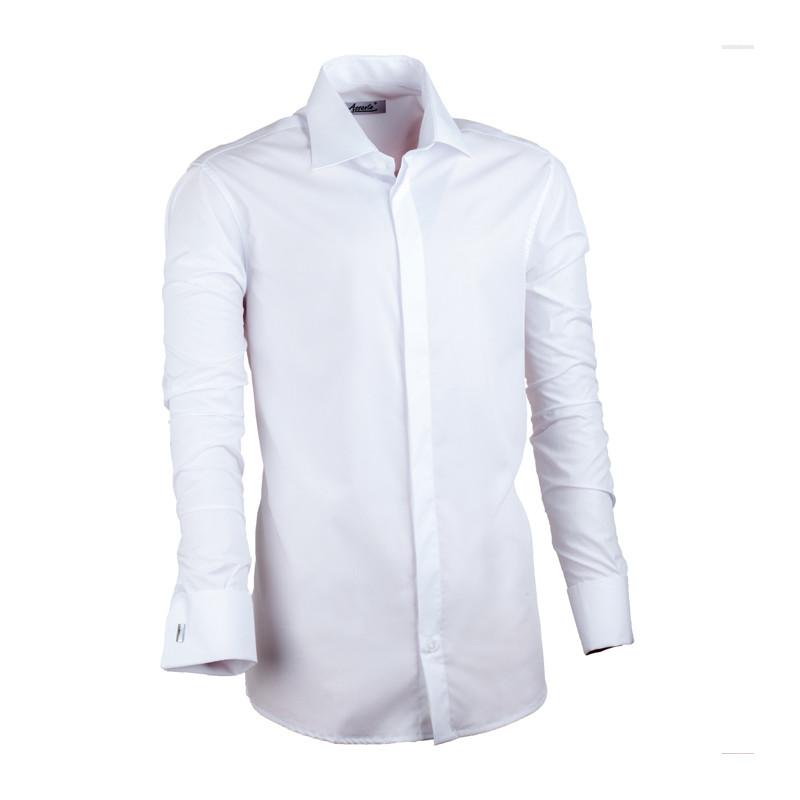 dcea6dfeadb Bílá pánská košile vypasovaná Assante 30025