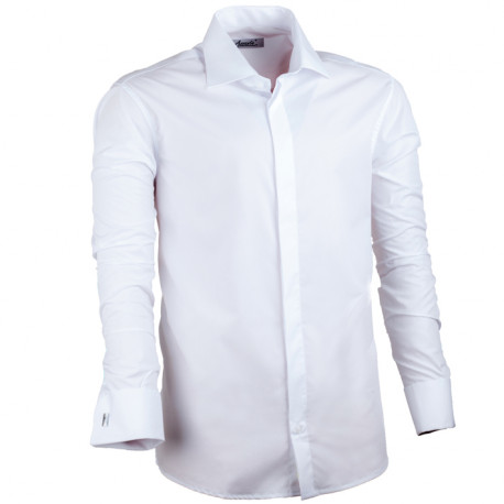 Bílá pánská košile rovná Assante 30026