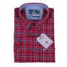 Pánská košile červená krátký rukáv Tonelli 110822